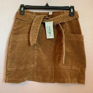 NWT Brown Corduroy Skirt